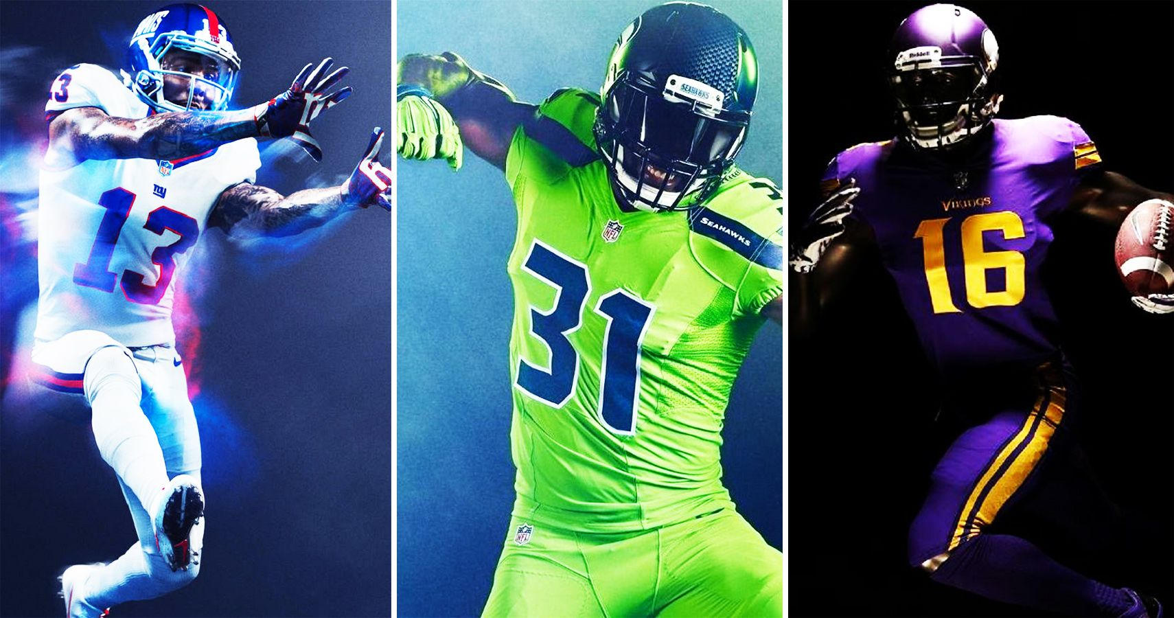 3b382e75015 Ranking All 32 NFL Color Rush Uniforms