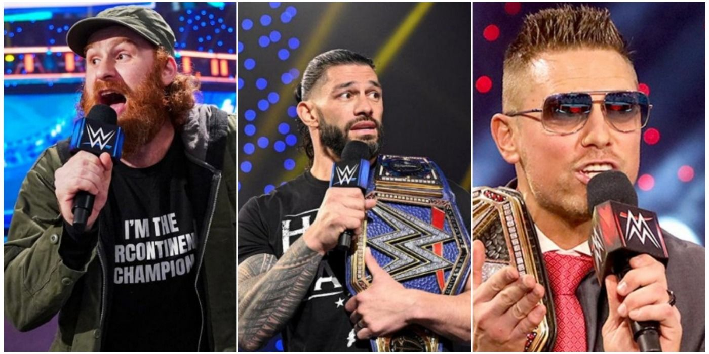 The 10 Best Male Wrestlers On The Current WWE Roster, Ranked By Promo Ability